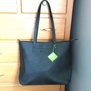 Vera Bradley Saffiano Tote (black-faux leather)